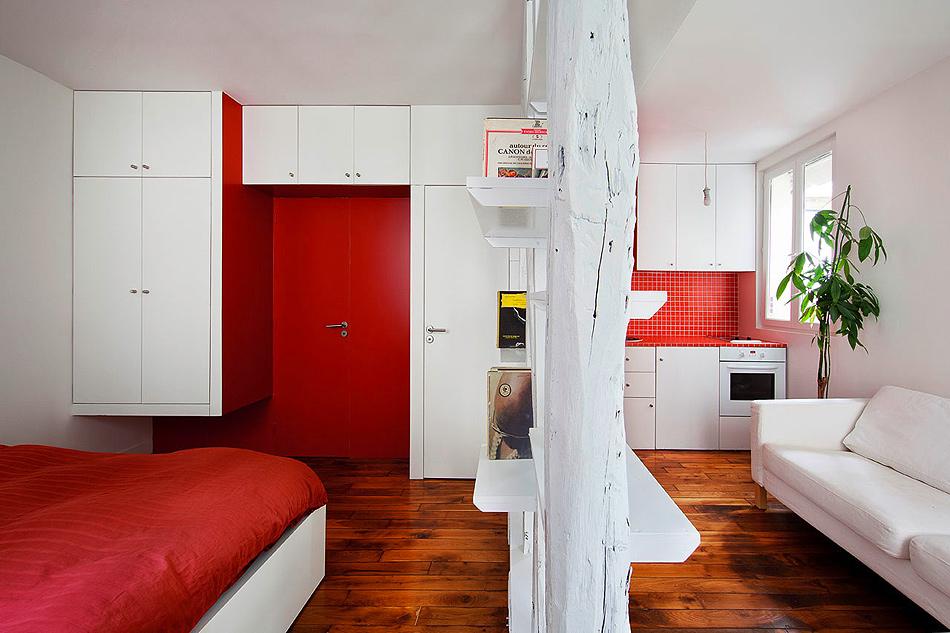 Квартира студия на 25 квадратных метров в французском стиле